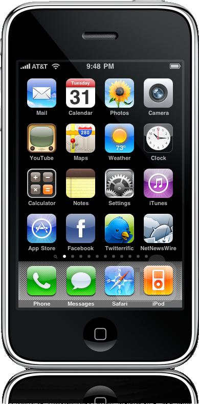11 páginas de apps no iPhone OS 3.0