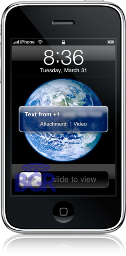MMS com vídeo no iPhone OS 3.0