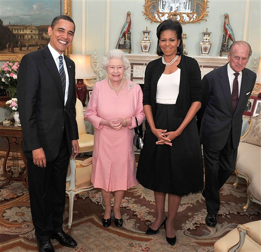 Barack Obama e Rainha Elizabeth II