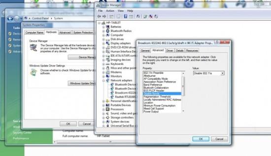 Driver 802.11a da Broadcom para áudio