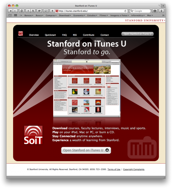 Stanford e iPhone no iTunes U
