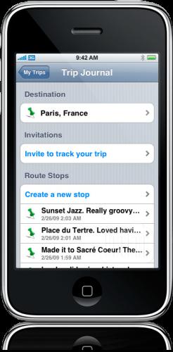 TripTrack para iPhone