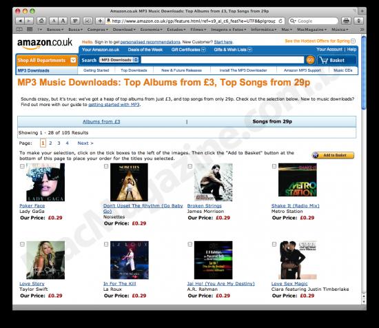 Amazon MP3s a 29p