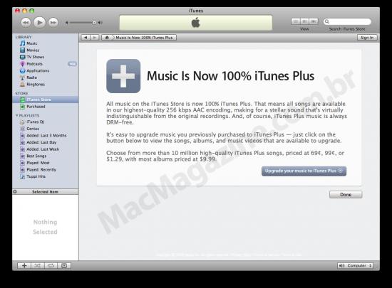 iTunes Plus e preços variados