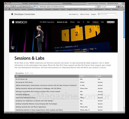 Sessions & Labs da WWDC '09