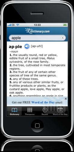 Dictionary.com no iPhone