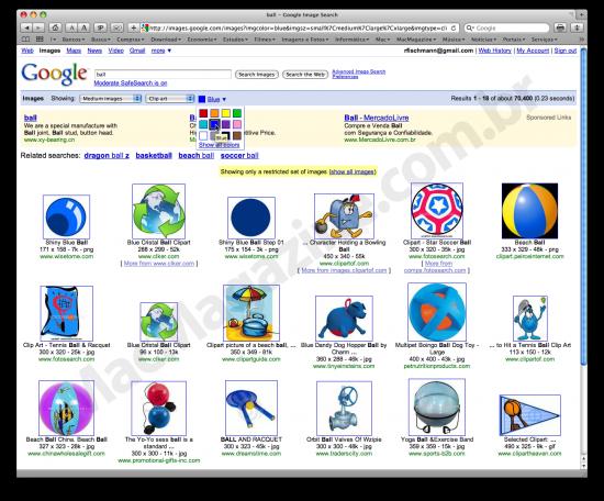Cores no Google Images