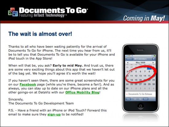 Documents To Go para iPhone