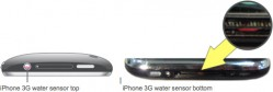 Sensor de água do iPhone