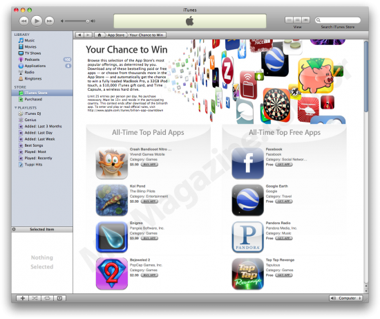 Ranking dos 20 da App Store
