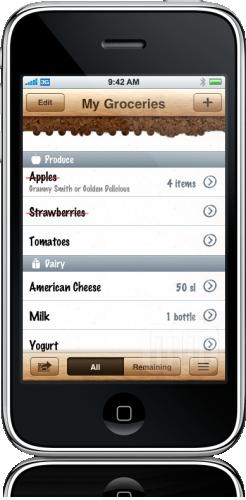 Groceries no iPhone