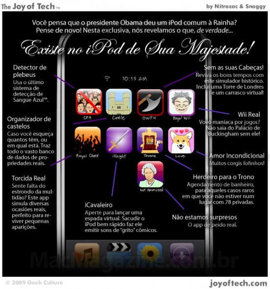 Joy of Tech: o iPod secreto da Rainha