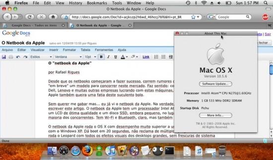 Mac OS X num Dell Mini 9