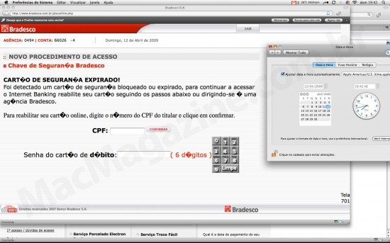 Bradesco e DNS spoofing no Virtua