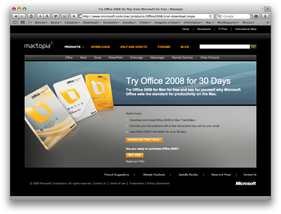 Microsoft Office 2008 for Mac Trial