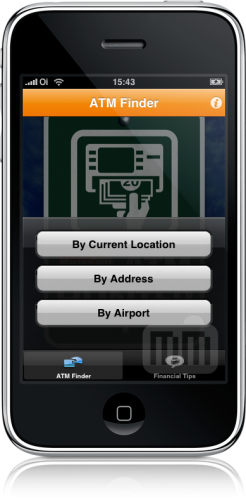 ATM Hunter da MasterCard no iPhone