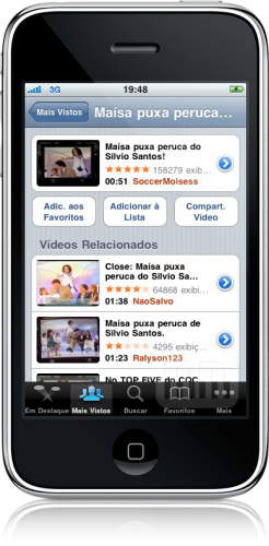 YouTube no iPhone OS 3.0