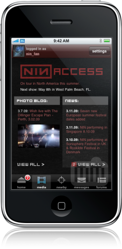 NiN no iPhone