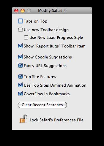 Safari 4 Modifier
