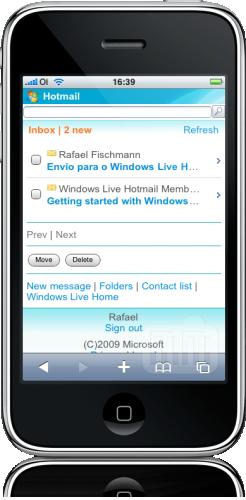 Windows Live Hotmail no iPhone
