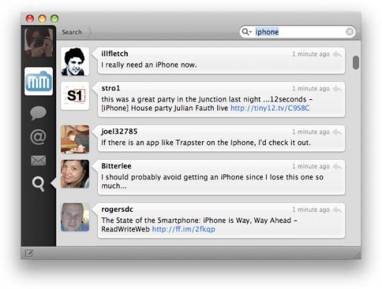 Testando o Tweetie (Busca)