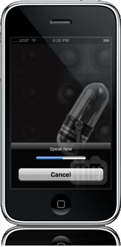 Discagem de voz no iPhone