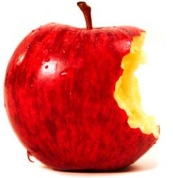 Maçã vermelha mordida (Apple)