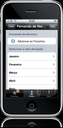 Tábua das Marés 09 no iPhone