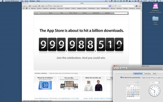 Um bilhão na iPhone App Store