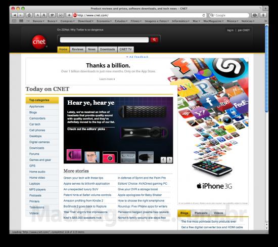Bilhão da App Store na CNET