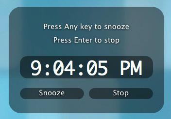 Alarm Clock para Mac OS X