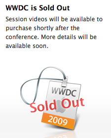 WWDC 2009 Sold Out