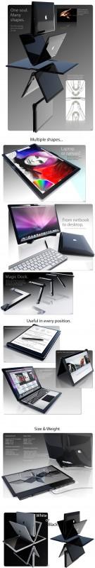 Conceito de MacBook Touch