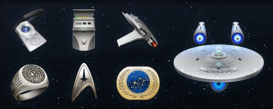 Ícones do filme Star Trek