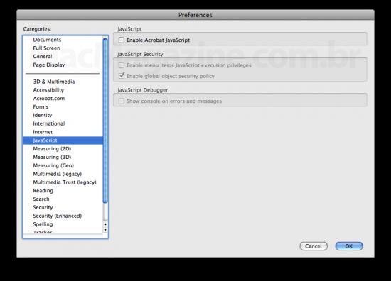 JavaScript no Adobe Reader