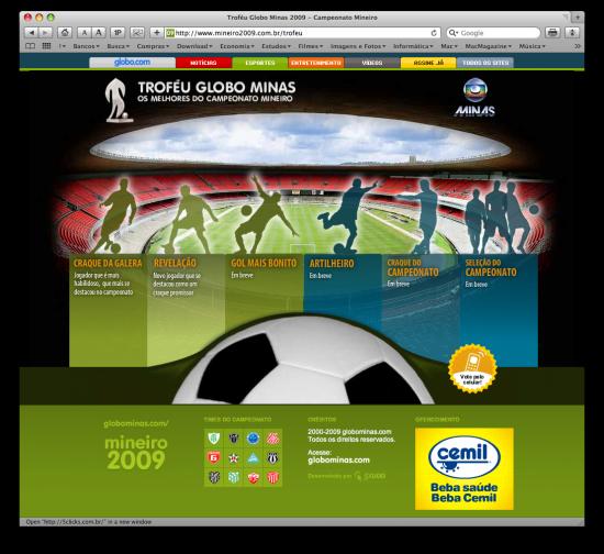 Troféu Globo Minas no desktop