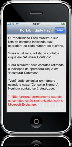Portabilidade Fácil no iPhone