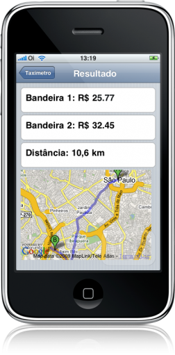 Taxímetro no iPhone