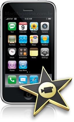 iPhone 3G e ícone do iMovie