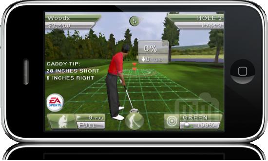 Tiger Woods PGA TOUR no iPhone