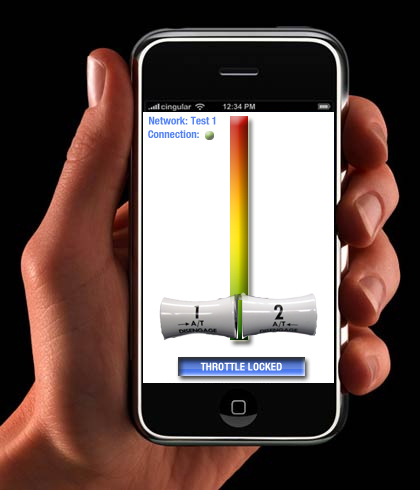 Interface de controle de aeronaves pelo iPhone