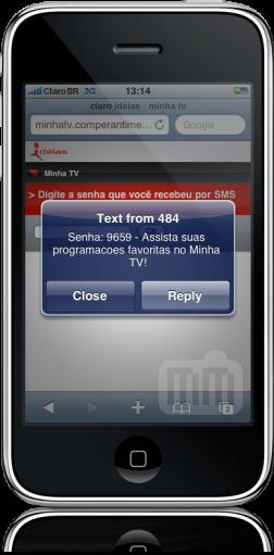 Claro Minha TV no iPhone
