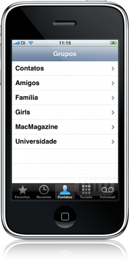 LEBContacts no iPhone