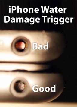 iPhone danificado por água