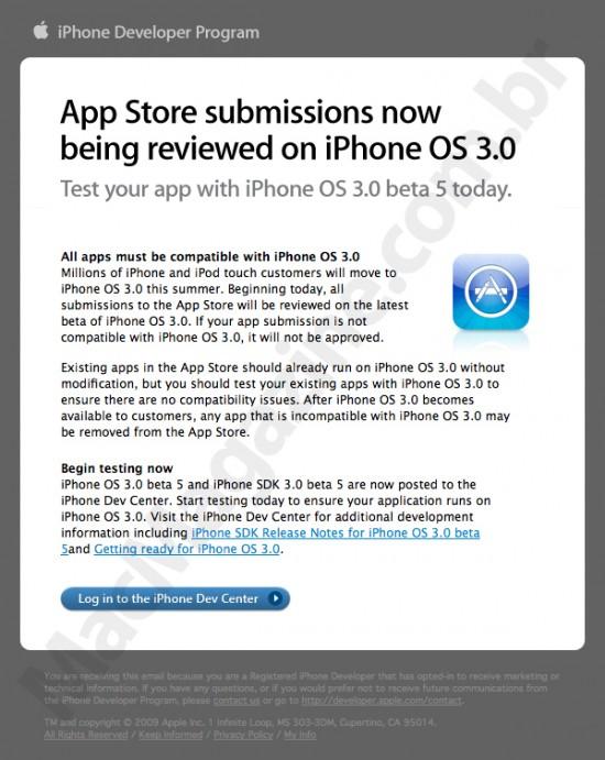 App Store e iPhone OS 3.0