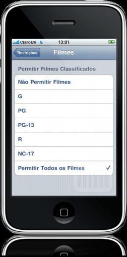 Controles parentais no iPhone OS 3.0 beta 5