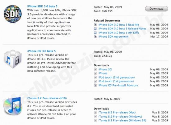 iPhone OS 3.0 beta 5