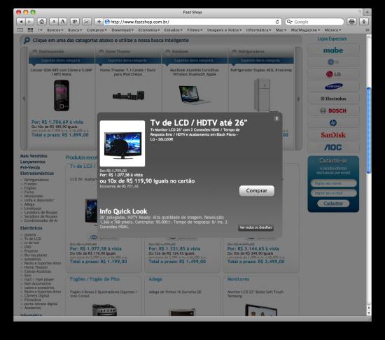 Fast Shop com visual à la Apple.com