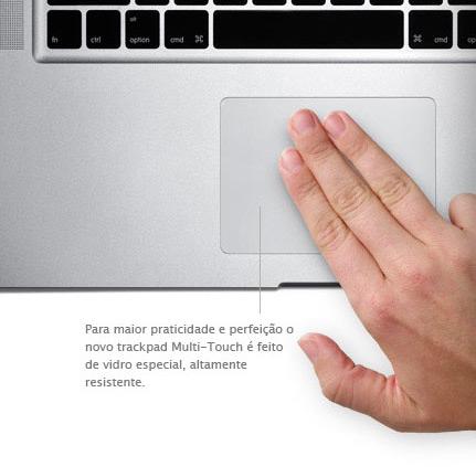 Trackpad multi-touch de vidro
