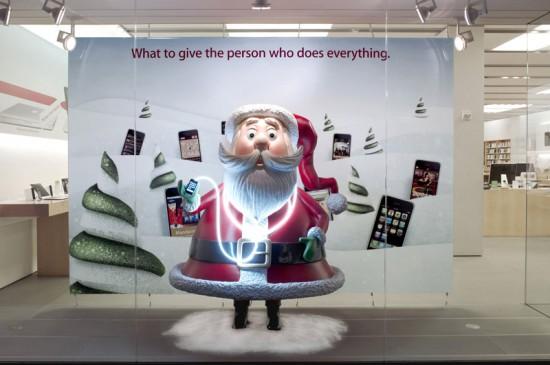 Holiday Santa iPhone Display